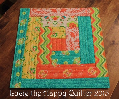 Finished QAUG Log Cabin block