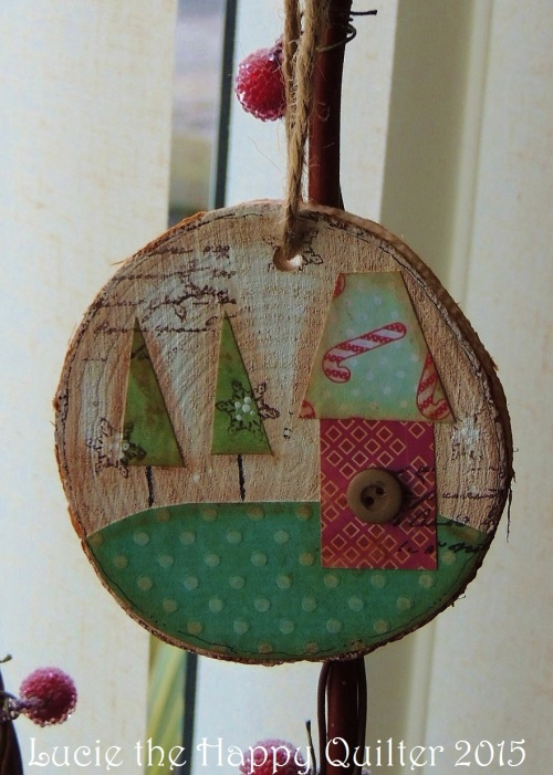Tree slice ornament