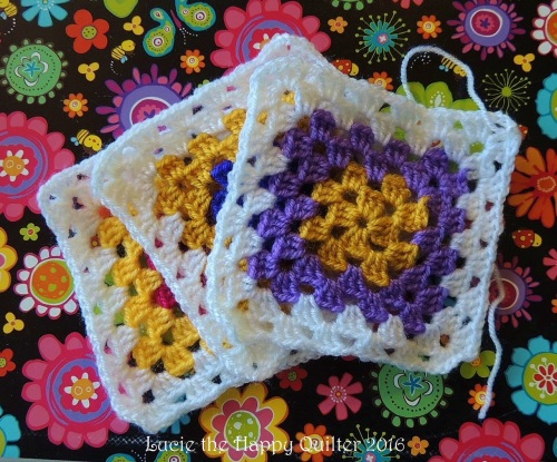 Crocheted granny squares
