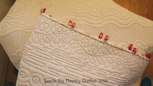 Freemotion quilting sampler binding added