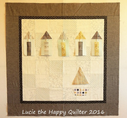 Beach Hut Quilt Progress