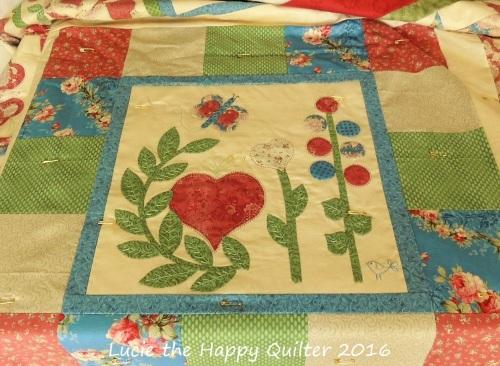 Sweethearts Dozen quilt marking