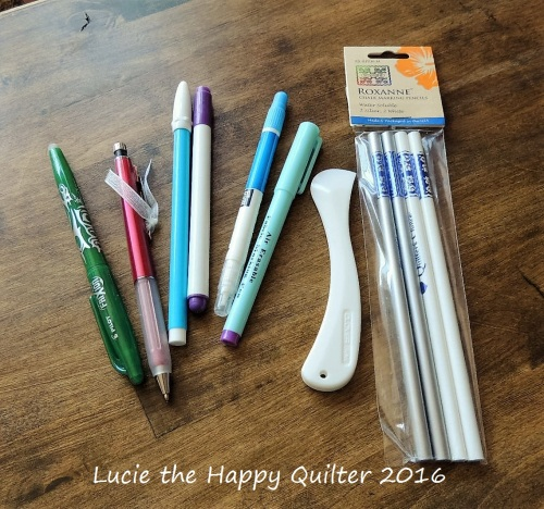 Quilt marking pens.pencils